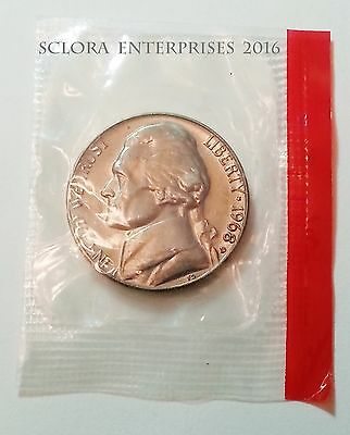 1968 D Jefferson Nickel  *uncirculated Mint Cello*  **free Shipping**