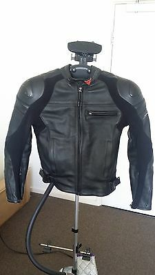 Dainese Newsan Pelle Mens Motorcycle Leather Jacket Black size 44