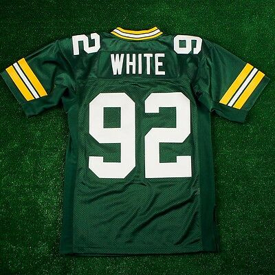 REGGIE WHITE 1996 Green Bay Packers MITCHELL   NESS Authentic Home Green  Jersey 1adacfeab