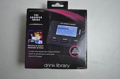 The Sharper Image 500 Recipe Electronic Drink Library WSI-DL-100 New