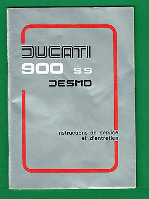Ducati 900 Ss Desmo Owners Manual Very Good Condition