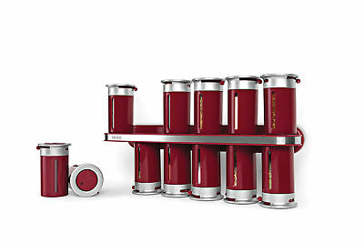 NEW Zero Gravity Wall-Mount Magnetic Spice Rack 12 Canisters