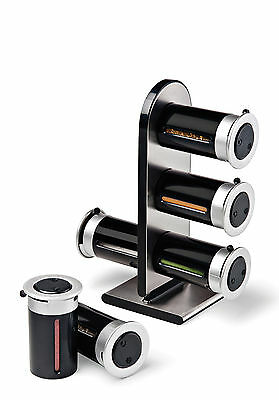 NEW Zero Gravity Magnetic Spice Stand 6 Canister