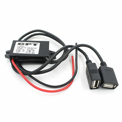 Dual 2 USB DC-DC Car Charger Converter Module 12V To 5V 3A 15W Power Adapter 16