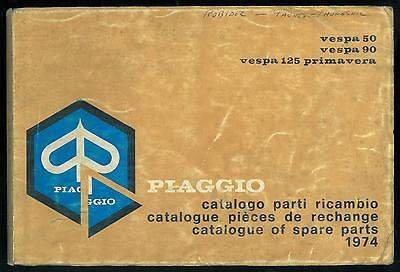 Catalogue Pieces PIAGGIO VESPA 50 - 90 - 125 Primavera 1974 FRANCAIS Parts List