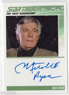 Star Trek TNG Portfolio S2 Autograph Card Ltd MITCHELL RYAN