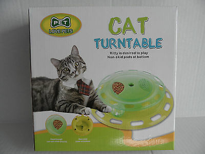 Cat Kitten Interactive Turntable, Treat Dispenser