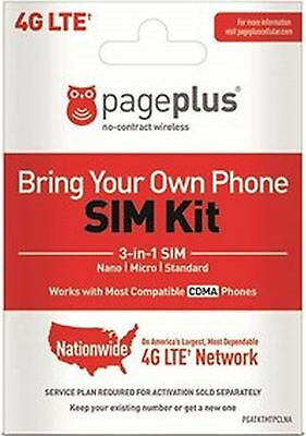 Page Plus VERIZON 4G  3 IN 1 FITS ALL PHONES NANO DUAL SAME DAY SHIP +SIM Tool