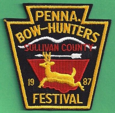 Pa Pennsylvania Fish Game Commission 1987 Sullivan Co Bowhunters Festival Patch