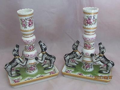 Mottahedeh Stately Homes Sir Humphrey Rose Famile Candlesticks