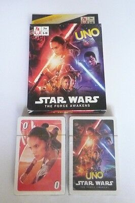UNO Playing Cards Game Movie STAR WARS  The FORCE AWAKENS 2016 Pack Sealed NEW