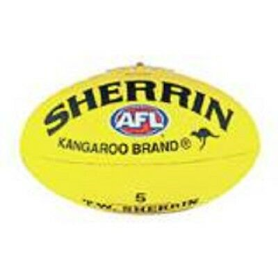SHERRIN AFL Yellow Synthetic SIZE 5 FULL SIZE Football