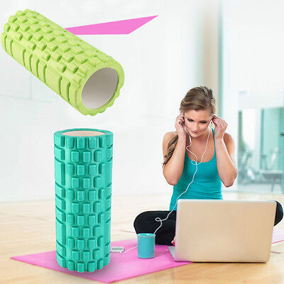 *34x14cm Pilates Fitness EVA Foam Roller Massage Convex Point Therapy Yoga Stick