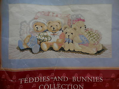 Semco Long Stitch Teddie & Bunnies Collection Bedtime Friends Kit 3500.1
