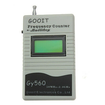 9V GY560 50MHz~2.4GHz Radio GSM Frequency Counter Digital Channel Scanner