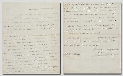 "US President James Buchanan – autographed letter signed ""The Bachelor mys(elf)"""