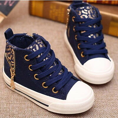 NEW Children Kids Girl Boy Sports Sneakers Canvas Casual Shoes