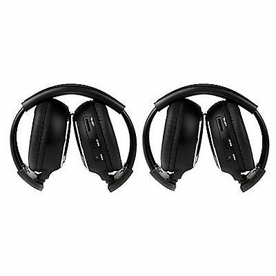 2016 Pair Infrared Stereo Wireless Headphone 2PCS Headset IR for Car DVD Player