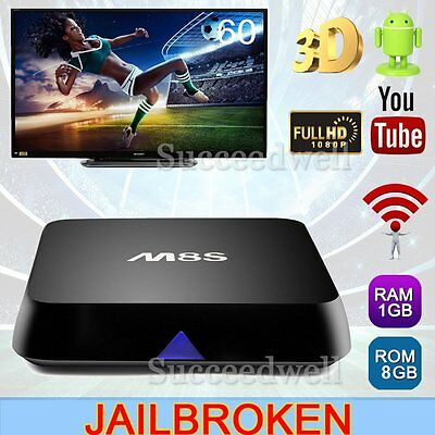 2016 M8S Quad Core Android Smart HD TV Box Fully Loaded Free Movies
