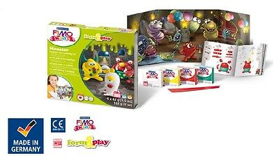 Fimo Kits For Kids Form & Play Polymer Modelling Oven Bake Clay - SET MONSTER