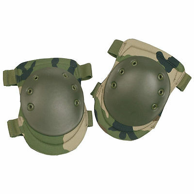 Tactical Knee Protection Protective Pads Airsoft Paintball Combat Woodland Camo