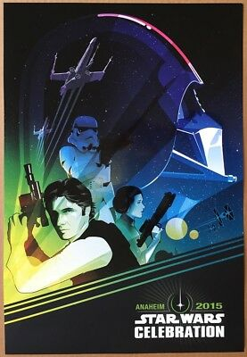 STAR WARS CELEBRATION MOVIE POSTER SS RARE ORIGINAL D23 MINI SHEET 13x19