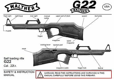 Walther G22 Rifle Owners Instruction and Maintenance Manual