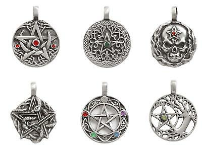 Wiccan Pewter Amulet Celtic Chakra Pentagram Skull Gothic Tree of Life Jewellery