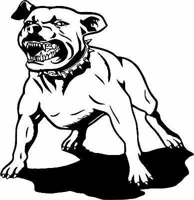 Dog Pit Bull Pet Animal Attack Car Boat Truck Window Vinyl Decal Sticker