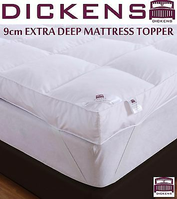 Dickens  Extra Deep 9Cm 100% Goose Feather & Down Mattress Topper Enhancer