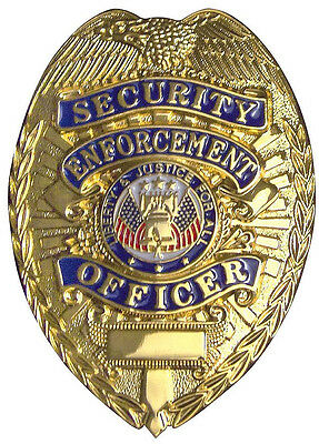 Gold Security Enforcement Officer Liberty & Justice For All Security Badge