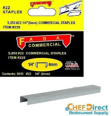 "1/4"" (6mm) Commercial Staples, 5,050-Pack - FREE SHIPPING!!!"