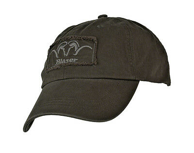 """Blaser Cap """"with Patch"""" - brown olive - 111054-107"""