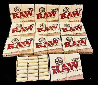 10 Boxes Raw Natural Unrefined Pre-Rolled Tips 21 Tips Per Box 210 Total