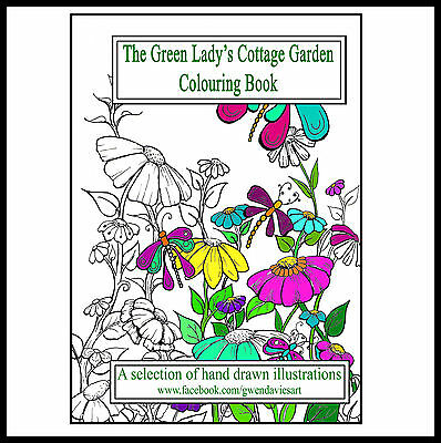 Adult Colouring book anti stress garden flowers Children calm art therapy cats