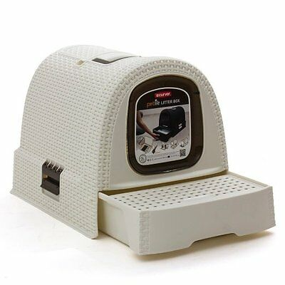 Curver Covered Cat Litter Box (51 x 38.5 x 39.5 cm), White