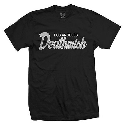 """New with Tags DEATHWISH """"Shield"""" Skate / Skateboard T-Shirt (Black) Size SMALL"""