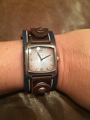 Fossil Watch Leather Band Nice !! Unisex