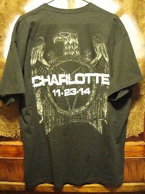 SLAYER NATION ~ 2XL ~ RARE ~ Charlotte NC 11-23-14 Dated ~ 2 Sided T Shirt