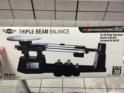 Triple Beam Balance Large Scale My Weigh 5.8 Pounds Brand New In Box Free Ship
