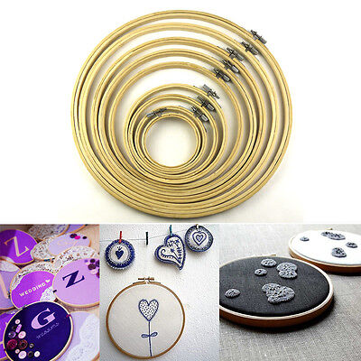 LEMO Wooden Cross Stitch Machine Embroidery Hoop Ring Bamboo Sewing 8-33cm Kit