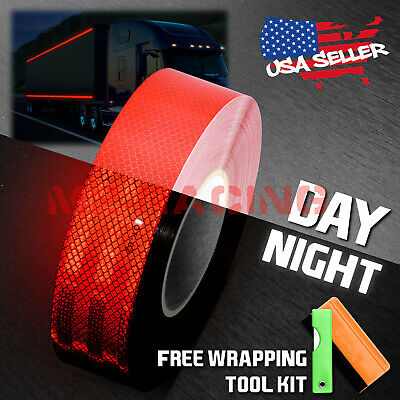 """*Red 2""""x150' Reflective Safety Tape Warning Adhesive Conspicuity Marking Decal"""
