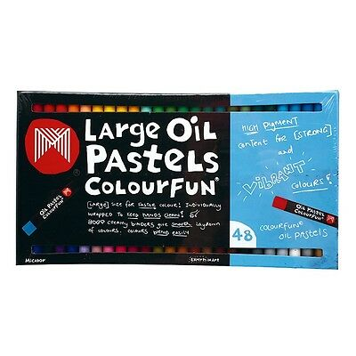 Micador Colourfun Large Oil Pastels, 48 Pack
