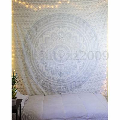 Indian Ombre Mandala Tapestry Hippie Queen Wall Hanging Bedspread Blanket Throw