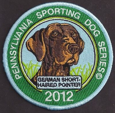 """Pa Fish Game Commission Sporting Dogs 4"""" 2012 German Short Haired Pointer Patch"""