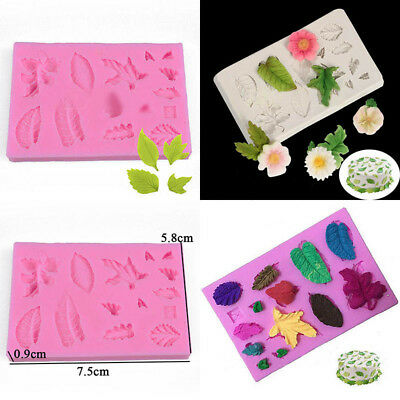 Silicone 3D Leaves Vein Fondant Mould Baking Icing Sugarcraft Mold Cake Decor