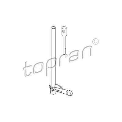 TOPRAN Washer Fluid Jet, windscreen 107 178