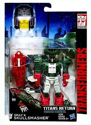 Transformers Titans Return Deluxe Class Decepticon Skullsmasher & Grax