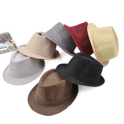 4795e0c3 Men Women Fedora Wide Brim Straw Trilby Cap Unisex Panama Summer Beach Sun  Hat