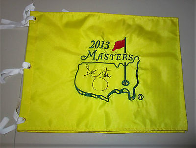 Adam Scott Hand Signed Us Masters Flag Unframed + Photo Proof C.o.a